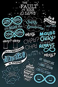 the fault in our stars poster typographic quotes 61cm x