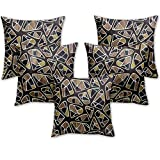 Story @ Home Black Designer Digital Print Cushion Cover set of 5 Pcs