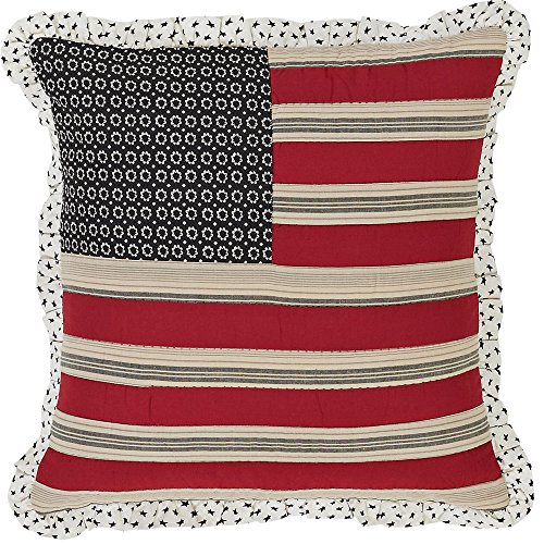 "Best Prices! Victory Flag Quilted Pillow Ruffled 16x16"" Sham"