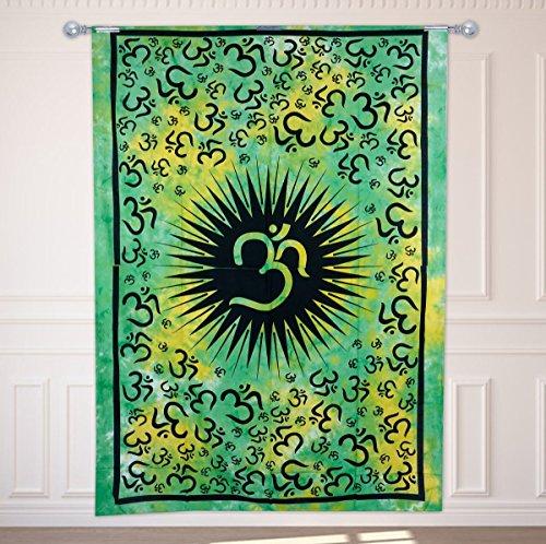Craftvatika d coratif om imprimer vert tapisserie ethnique for Decoration murale ethnique
