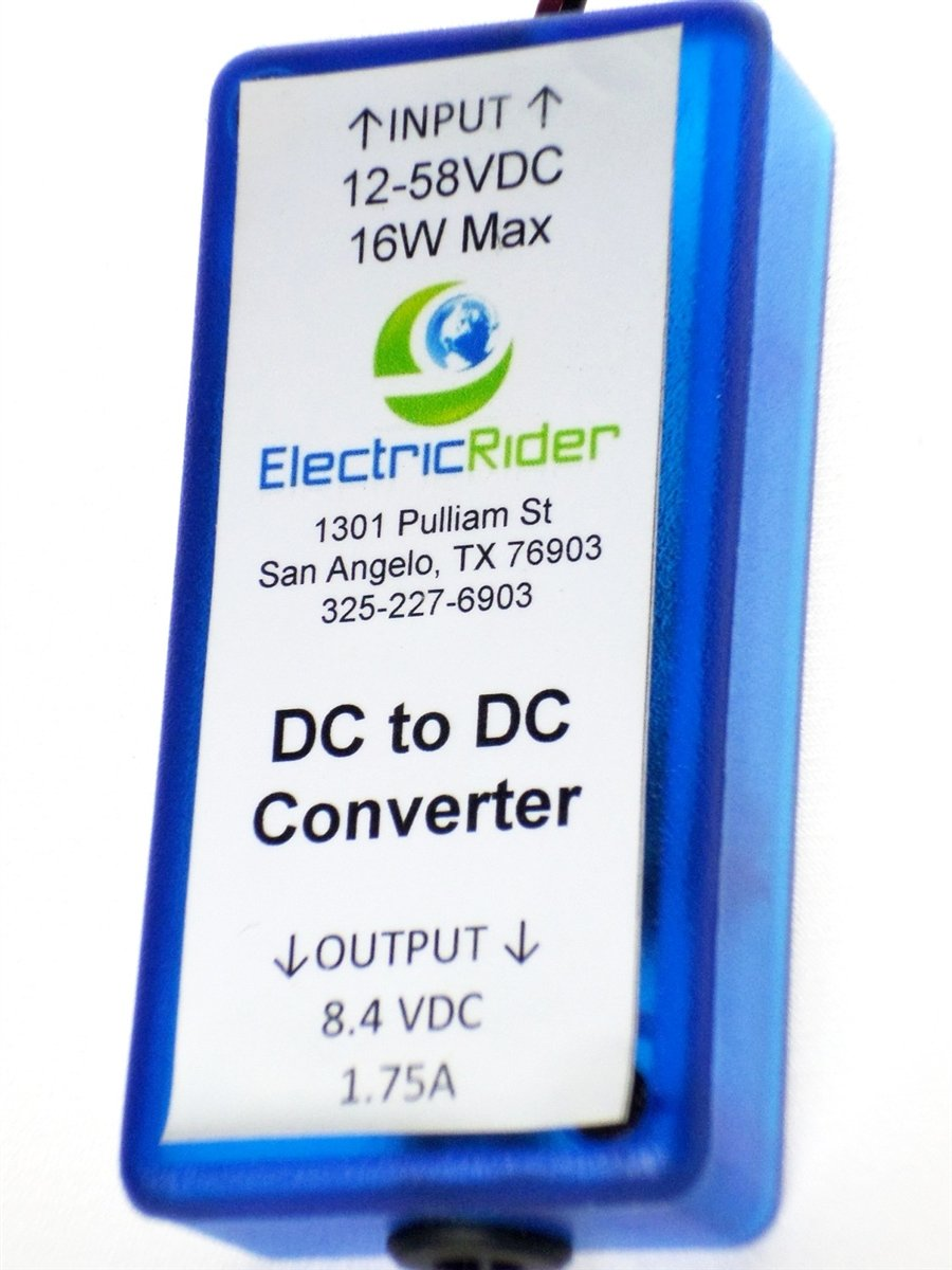 DC Converter - Input 12-58V - Output 8.4V 1.75A - Anderson Power Poles Input, Stripped Wire Output