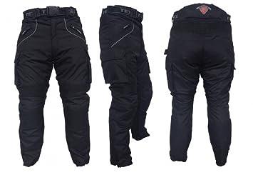 Tous étanches Pantalon blindé Moto / Moto Noir