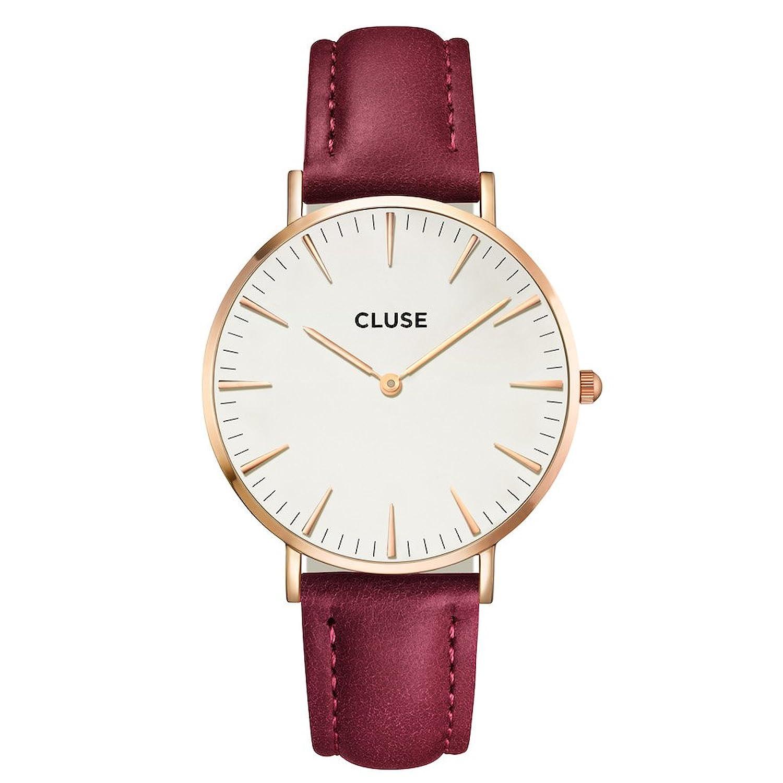 Montre CLUSE bordeaux bracelet cuir