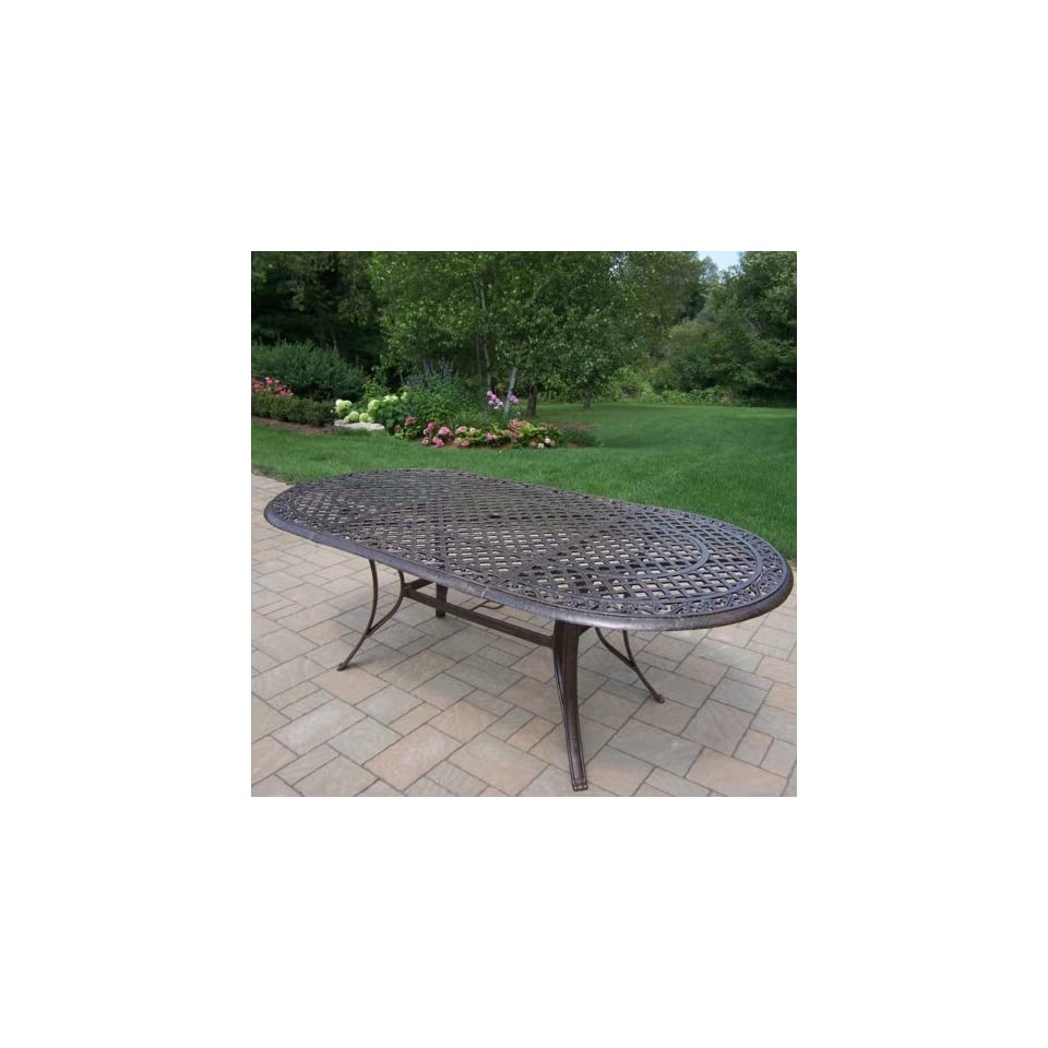 Oakland Living Mississippi Cast Aluminum 82 x 42 in. Oval