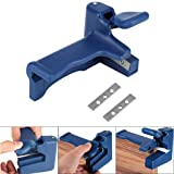 ??MChoice??Woodworking Tools Handle Edge Trimmer Edge End Cutter for Wood Plastic Blue (Color: Blue, Tamaño: Size: 13.7CM x 8CM x 8.5CM(LxWxH))
