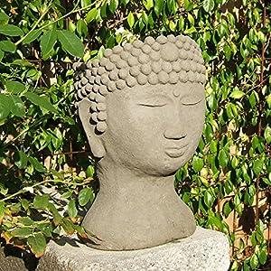 Designer Stone Buddha Head Planter Patio
