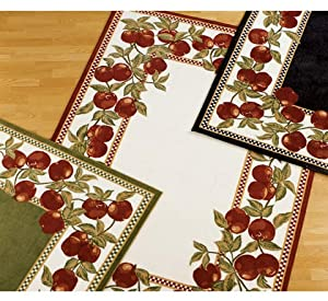 Apple Border Rug 19 X 33 Red Area Rugs