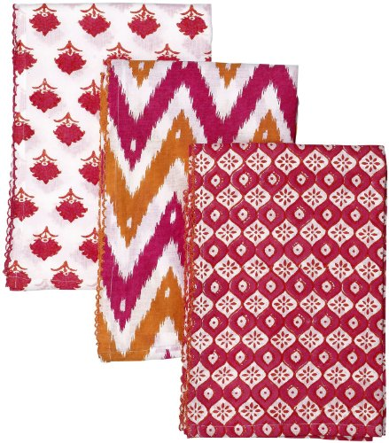 Masala Kamal Floral Swaddle Set - Pink/Orange