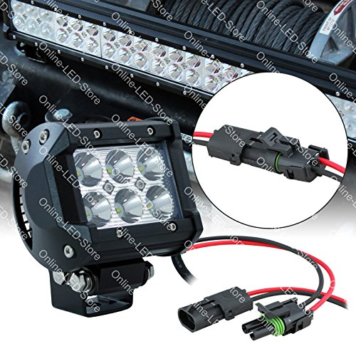 """Lamphus Cruizer 4"""" 18W Cree Led Off Road Power Sports Atv Bike Head Light Lamp (Other Sizes Available) - Flood"""
