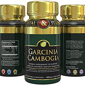 1 Garcinia Cambogia Extract 1600 Mg Only 2 Capsulesday Pure 100 Natural Gmo Free Effective Appetite Suppressant And Weight Loss Supplement - 60 Vegetarian Capsules from TLC Brands