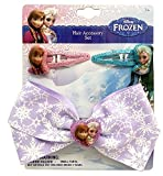 Frozen Bow Barrette with 2 Snap Clips