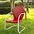 Crosley Furniture Griffith Metal Chair, Red from Crosley Furniture - DROPSHIP