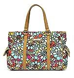 Nicole Miller Floral Mosaic Top Handle Tote Handbag