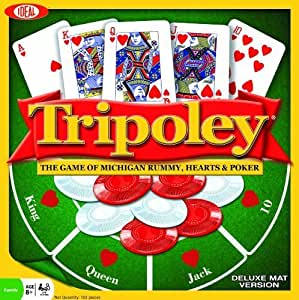 POOF-Slinky 0C1241 Ideal Tripoley Deluxe Mat Edition Card Game by Ideal TOY (English Manual)