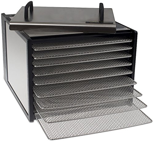 Excalibur 9 Tray Deluxe Dehydrator with 26 Hour Timer - Stainless Steel Body and Drying Racks. (Excalibur Stainless Steel compare prices)