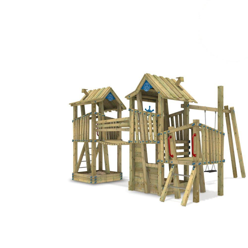WICKEY Spielturm Spielgerät öffentlich EN-1176 GIANT Fortress mit Schaukel für professionellen Gebrauch