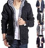(Nail39) メンズ おしゃれ 普段着 秋 冬 部屋着 セーター パーカー 暖かい ウォームウェアー (ブルー 、XL)