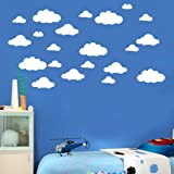 Franterd 31pcs/set Wall Decals, DIY Large Clouds 4-10