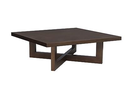 Regency 37-Inch Square Veneer Coffee Table, Mocha Walnut