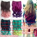 Best Cheap Deal for X&Y ANGEL New Two Tone One Piece Long Curl/curly/wavy Synthetic Thick Hair Extensions Clip-on Hairpieces 26 Colors from X&Y ANGEL - Free 2 Day Shipping Available