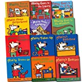 Lucy Cousins Maisy Mouse Loves Collection Lucy Cousins 12 Books Set (Dresses Up, Tidies Up, Goes Shopping, Maisy's Bathtime, Bedtime, Makes Gingerbread, Makes Lemonade, Goes to Nursery, Goes to the City, Goes Camping, Goes to the Library, Goes to the Mus