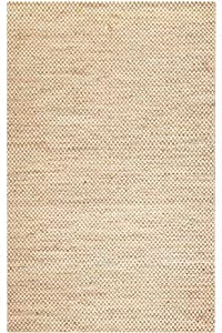 Boxes Chenille Hemp Rug, 3'x10' RUNNER, NATURAL
