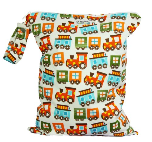 Snuggy Baby Large Wet Bag - Choo Choo