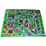 """Large """"Cityscape"""" Play Mat with Train Tracks, Buildings, and Roads for Cars, Trucks, and Trains"""