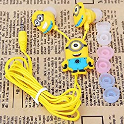 Headphones Earbuds Despicable Me In-ear Minions for Mobile Phone iPad Mp3 Minions Dave Carl 3.5mm Earphones Quality Sound - Great for Kids, Boys, Girls, Adults, Gifts