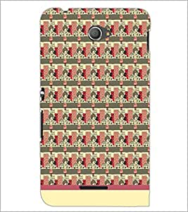 PrintDhaba Pattern D-1548 Back Case Cover for SONY XPERIA E4 (Multi-Coloured)
