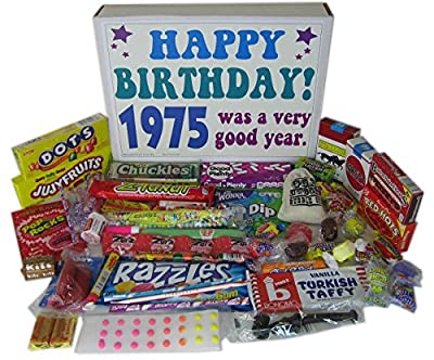 1975 41st Birthday Gift Basket Box Retro Nostalgic Candy From Childhood