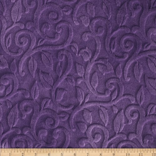 Minky Vine Cuddle Violet Fabric front-939013