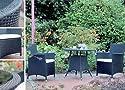 Rattan Garnitur Cubus im Set für ein schönes Garten- Ambiente