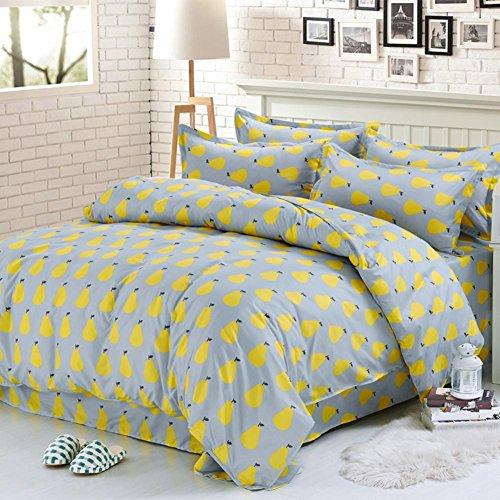 Baumwolle-Bettwsche-Einzelbett-Leinen-Kissenbezug-fr-hautfreundliche-Vierstck-Standardgre-2