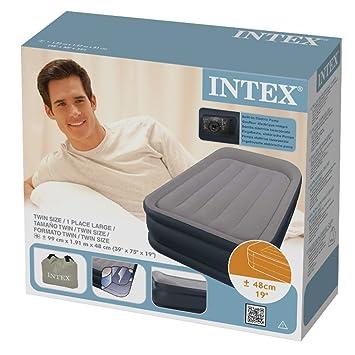 intex 67732 lit gonflable gonflable 1 place large rest bed bed gonfleur int gre 230 volts. Black Bedroom Furniture Sets. Home Design Ideas