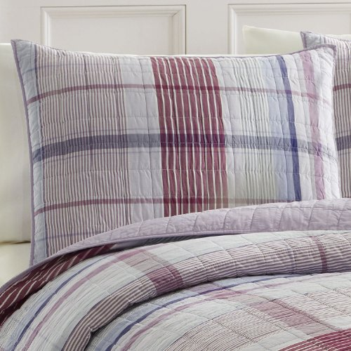 Nautica Pleasant Bay Quilted Sham- Purple front-1039933