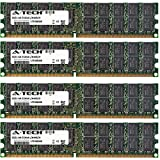 32GB KIT (4 x 8GB) For Dell PowerEdge Series 2970 M605 M805 M905 R805 R905. DIMM DDR2 ECC Registered PC2-5300 667MHz Dual Rank RAM Memory. Genuine A-Tech Brand. (Tamaño: 32GB KIT (4 x 8GB) (667MHz) Dual Rank)