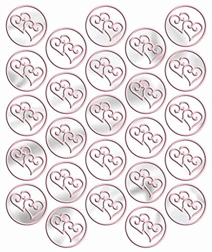 seals metallic pink heart - 25 count