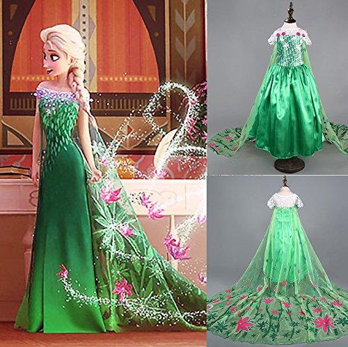 Disfraz de la Princesa ELSA ANNA de Frozen Vestido Niña (Talla 140...