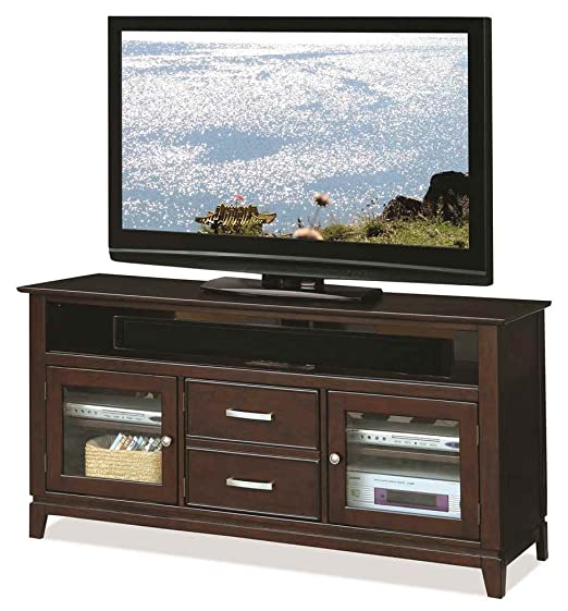 Riverside Marlowe 60 in. TV Console - Warm Ebony