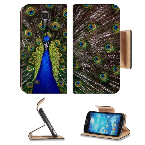 Peacock Colorful Jewel Like Beautifu Bird Samsung Galaxy S4 Flip Cover Case With Card Holder Customized Made To Order Support Ready Premium Deluxe Pu Leather 5 1/2 Inch (140Mm) X 3 1/4 Inch (80Mm) X 9/16 Inch (14Mm) Msd S Iv S 4 Professional Cases Accesso