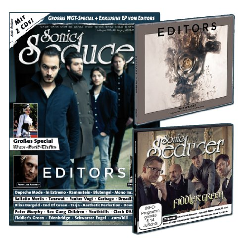 Sonic Seducer 07/08-13 mit Editors Titelstory + 2 CDs, darunter die exkl. The Weight-EP von Editors + 20 Seiten WGT-Special, Bands: Depeche Mode, Front Line Assembly, Saltatio Mortis u.v.m.