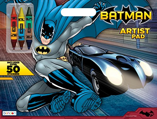 Bendon Publishing Batman Artist Pad with Double-Ended Crayons