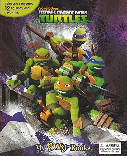 Teenage Mutant Ninja Turtles My Busy Book With Figurines and Playmat - 1