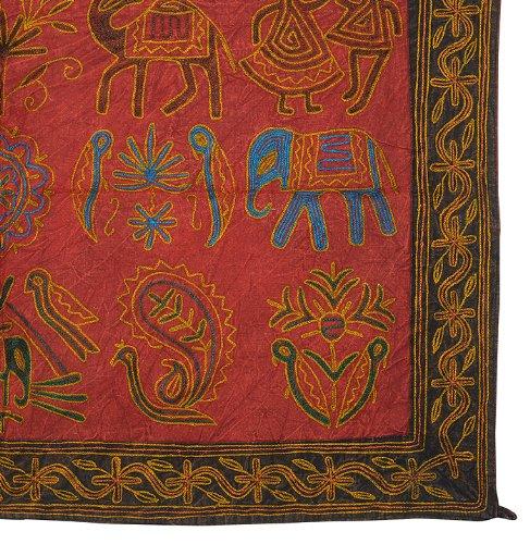Imagen 3 de Wall Hanging tapiz decorativo indio con tamaño de trabajo elefante bordado 35 x 22 pulgadas