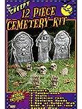 Forum Novelties 12-Piece Cemetery Kit, Multicolored