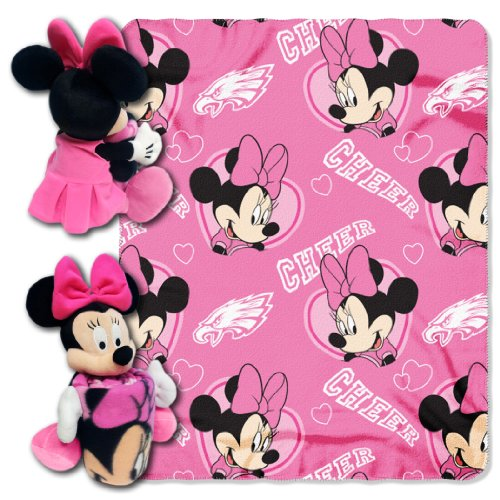 NFL Philadelphia Eagles Minnie Cheerleader Throw with Hugger