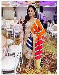 KHAZANAKART MULTICOLOR GEORGETTE DESIGNER DRESS MATERIALS FOR WOMEN