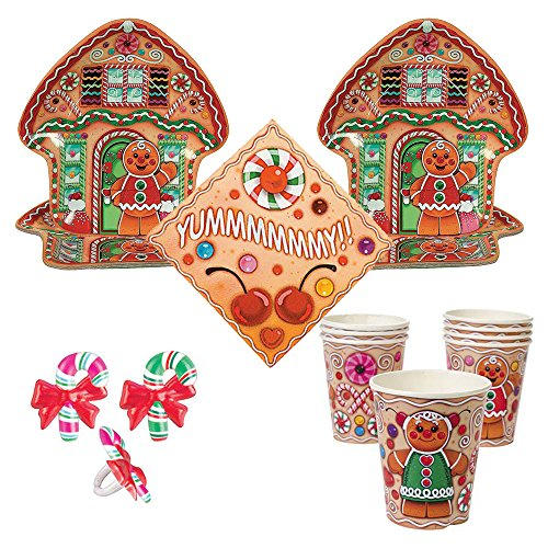 candy-town-gingerbread-house-party-supplies-16-guests-large-plates-cups-napkins-cupcake-rings