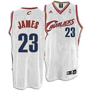 LeBron James Jersey: adidas White Swingman #23 Cleveland Cavaliers Jersey by adidas